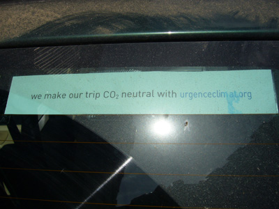 Carbon neutral trip